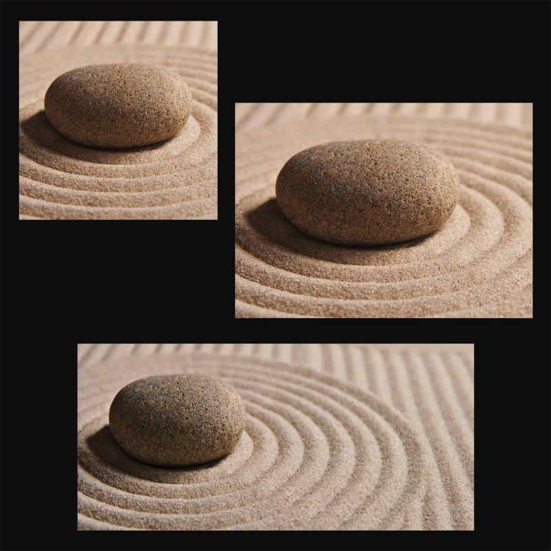 olga lyubkin mini zen garten sand glas k chenr ckwand. Black Bedroom Furniture Sets. Home Design Ideas