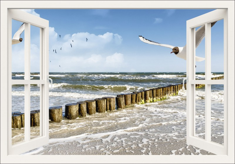 device fensterblick ostsee leinwandbilder. Black Bedroom Furniture Sets. Home Design Ideas